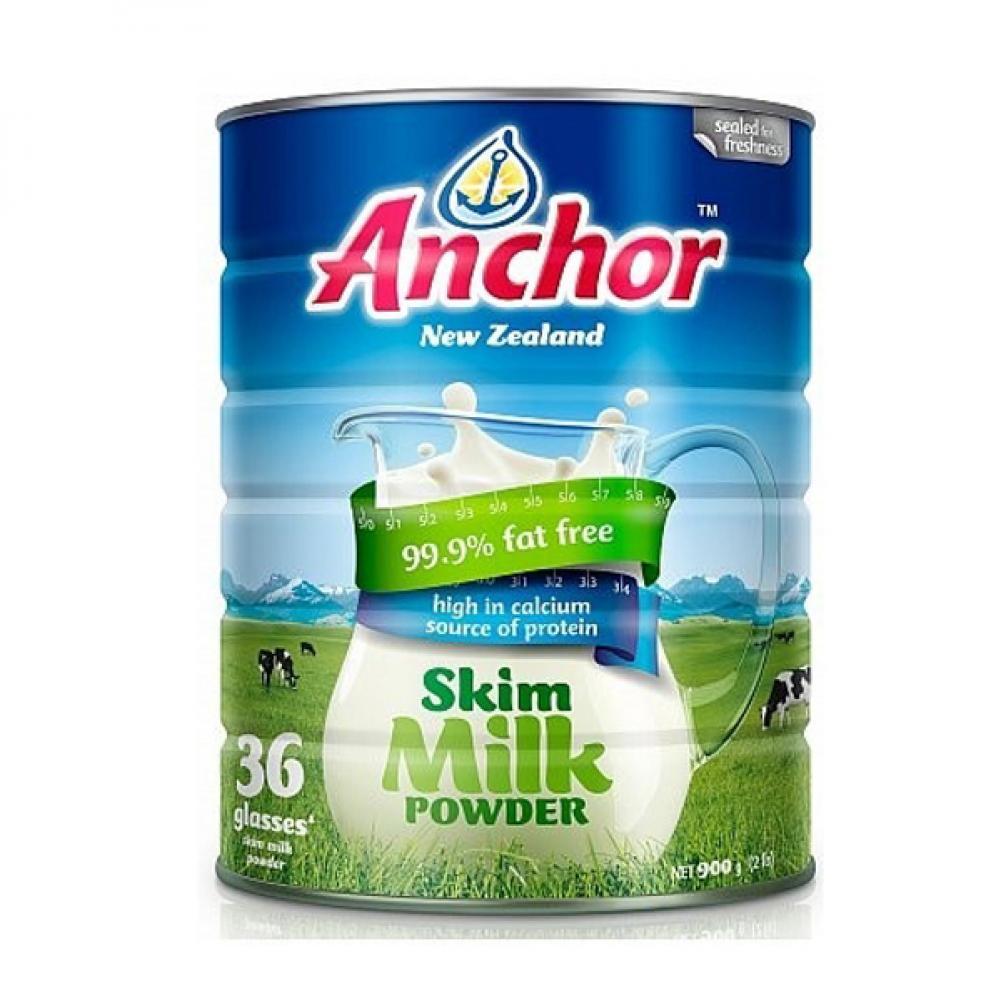 安佳成人脱脂奶粉 整箱6罐 (900g/罐)