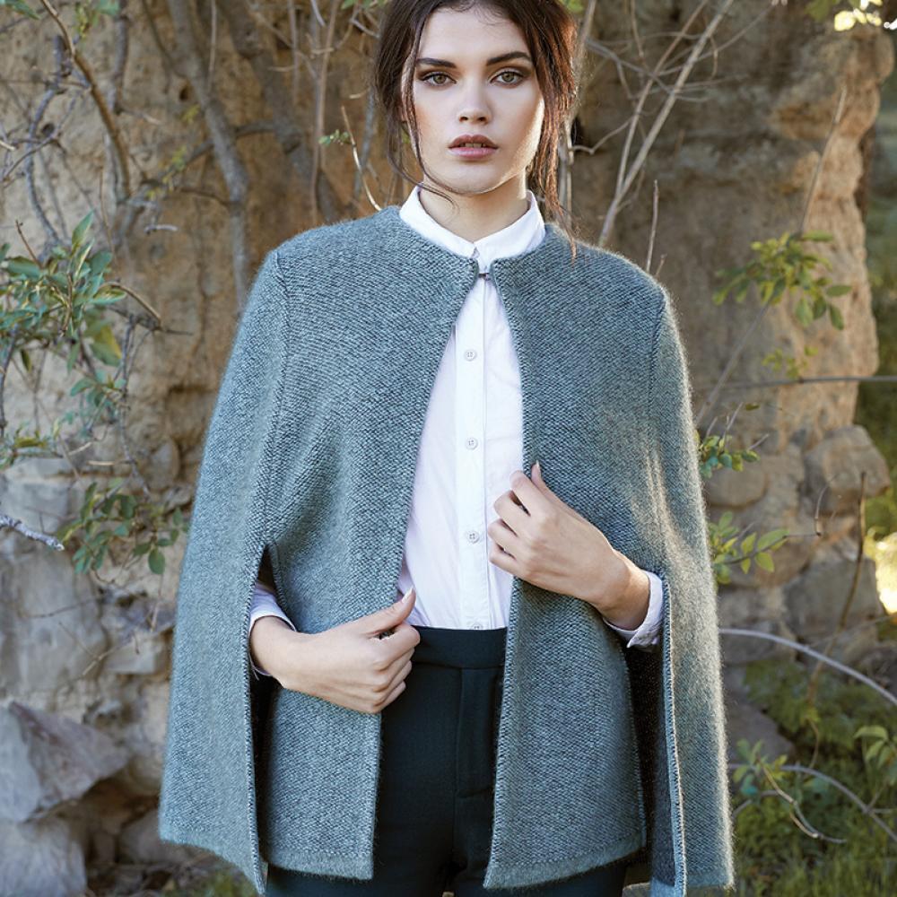 Mcdonald  美丽诺羊毛上衣 斗篷款