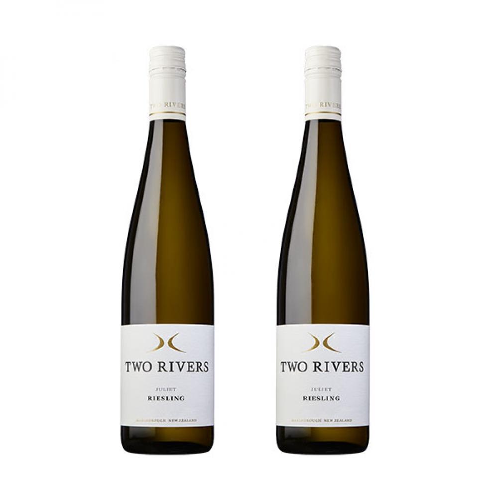 【国内现货】 【免邮】TWO RIVERS Juliet 半干雷司令 白葡萄酒 2瓶装