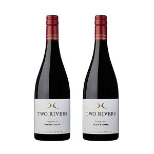 【国内现货】 【免邮】TWO RIVERS Tributary 新西兰原产 黑皮诺干红葡萄酒红酒 2瓶装